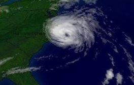 hurricane aerial view