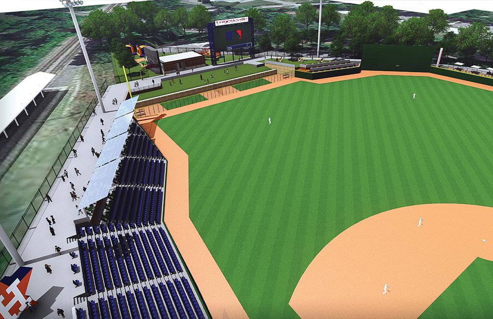 Baseball stadium entertainment venue project fayetteville nc left field development malvernweather Image collections