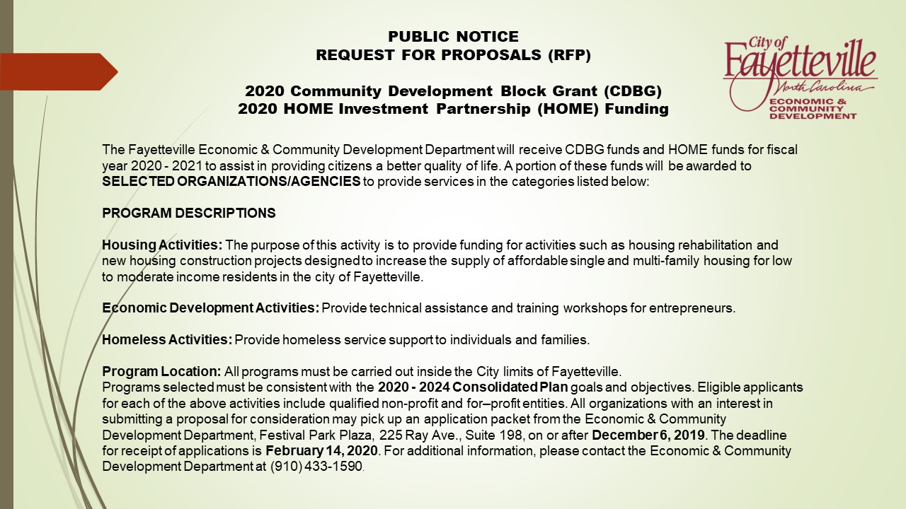 2020 RFP - Nonprofits flyer