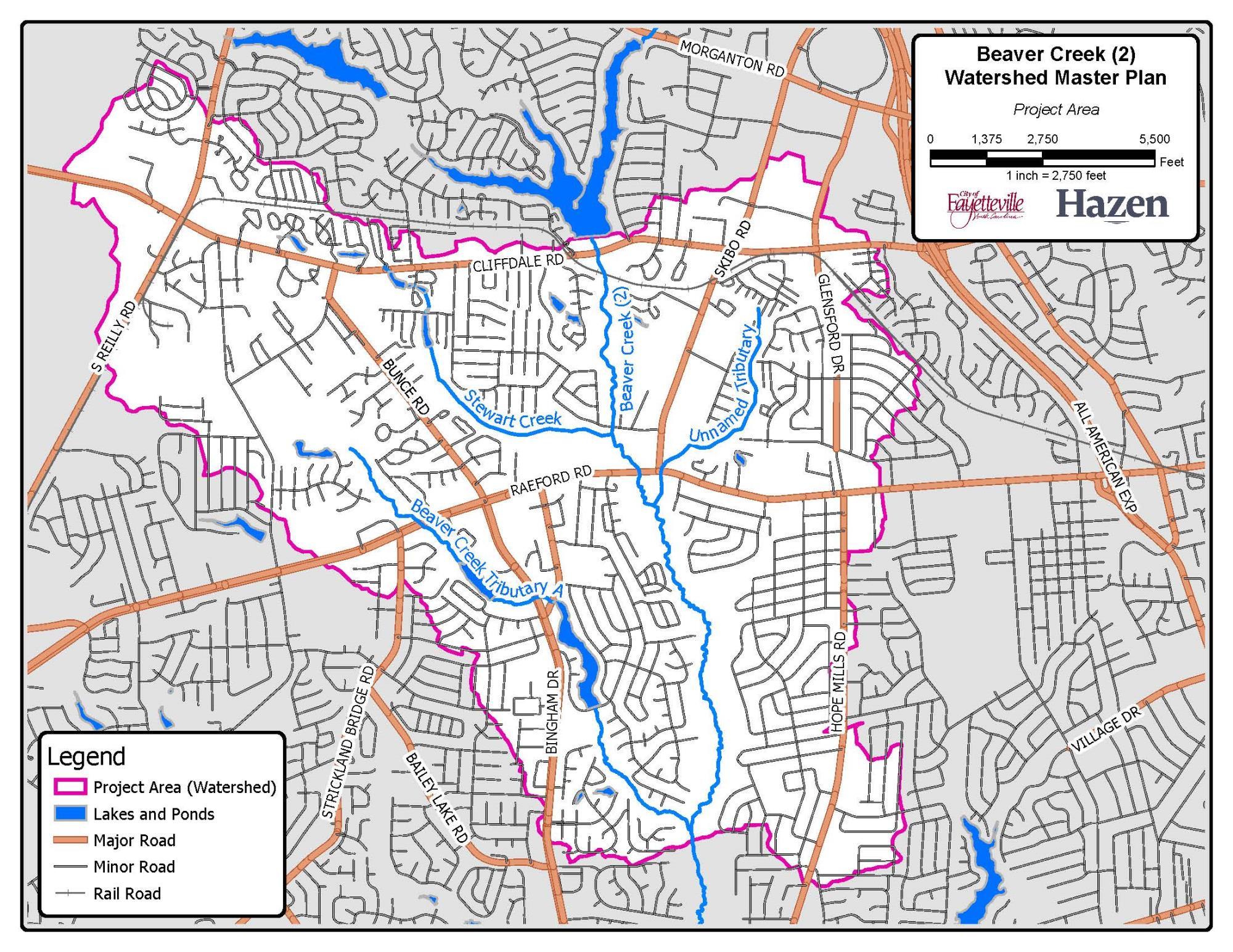 Beaver Creek 2 Watershed Study Fayetteville Nc
