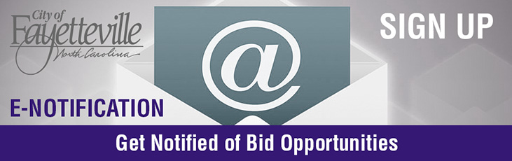 Get notified of bids fayetteville nc for Get bids