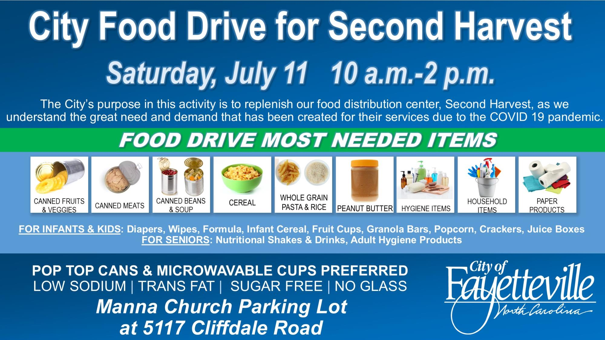 City COVID-19 Relief Food Drive